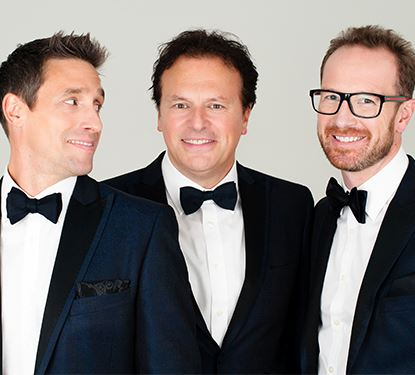 Tenors Unlimited Group photo of three singers